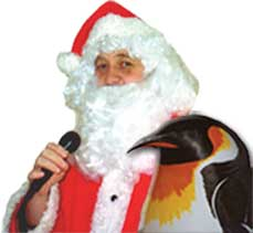 Santa with Percy Penguin